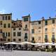 Piazza Anfiteatro in Lucca, Italy