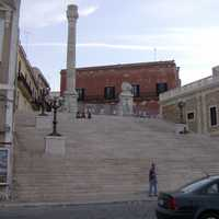 Roman column marking the end of the ancient Via Appia in Brindisi, Italy