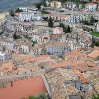 Rooftops and town in Italy