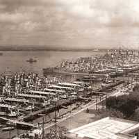 Taranto naval base in the 1930s in Italy