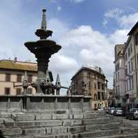 The Fontana Grande in eponymous square in Viterbo, Italy