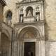 The monumental entrance of Julius II in the church of San Francesco in Ascoli Piceno, Italy