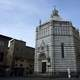 The octagonal baptistery in Pistoia, Italy
