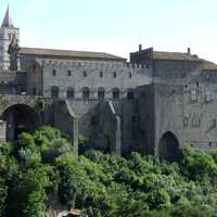 The Palace of the Popes in Viterbo, Italy