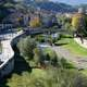 The River Crathis in Cosenza and landscape in Italy