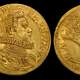 Two gold Doppie depicting Odoardo Farnese in Piacenza, Italy