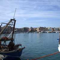 View of Anzio from the Harbor in Italy