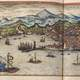 View of Genoa in 1572 in Italy