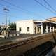 View of station platforms in Civitavecchia, Italy