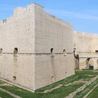 View of the Fortress with its gardens in Barletta, Italy