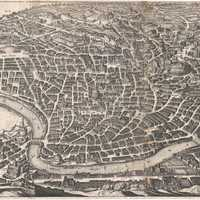 Depiction of Rome in 1642