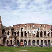 Frontal view of the Colosseum in Rome, Italy