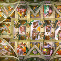 Michelangelo's Artwork on the ceiling of Sistine Chapel