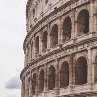 Side of the Roman Colosseum