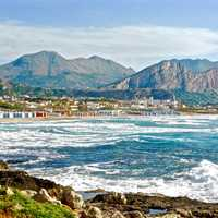 Landscape of the coastline in Sicily