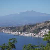 Mount Etna with the City Below