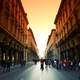Streets of Turin during Sunset