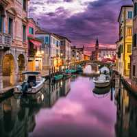 Canals of Venice at Dusk
