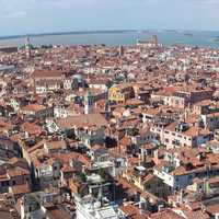 Overlooking the city of Venice