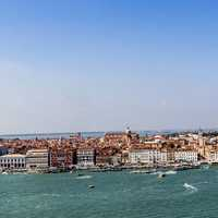 Panoramic View of Venice in Italy