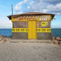 Beer Shack on the Beach in Kingston, Jamaica