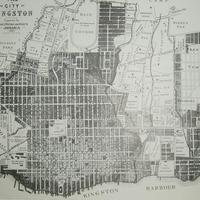 Map of Kingston 1897 in Jamaica
