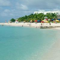 Doctor's Cave Beach landscape in Montego Bay, Jamaica