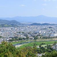 Overlook of the city of Kyoto, Japan
