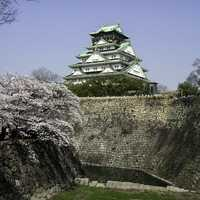 Farther view of Osaka Castle, Japan
