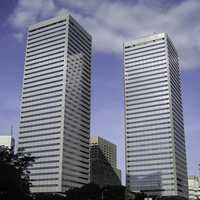 Twin Towers in Osaka, Japan