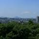City view from the Sendai Castle on Mount Aoba in Japan