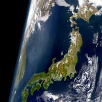 Japan seen from space