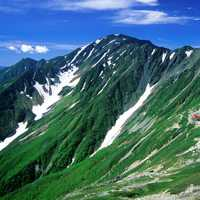 Landscape of Mount Aino in Japan