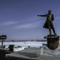 William S Clark Statue at Hitsujigaoka Observation Hill in Sapporo, Japan