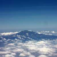 Mount Kilimanjaro above the clouds from Kenya