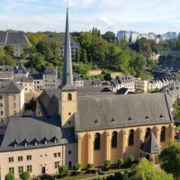 Cityscape and chapel in Luxembourg