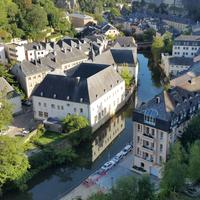 Luxembourg city view with houses and buildings
