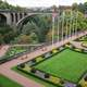 The gorges and Adolphe Bridge in Luxembourg
