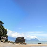 Panoramic view of Bako National Park in Malaysia