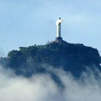 Statue of Christ on a hill in Malaysia