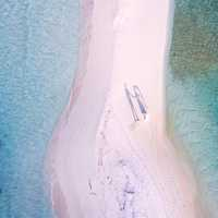 Aerial View of the Sandy Beach in the Maldives