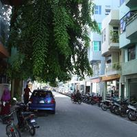 Street scene in Malé in the Maldives