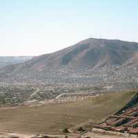 Colorado Hill, the highest elevation of Tijuana in Baja California, Mexico