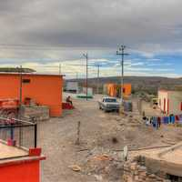 Houses in the town at Boquilla Del Carmen, Coahuila, Mexico