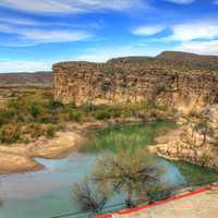 Overlooking the Rio Grande at Boquilla Del Carmen, Coahuila, Mexico