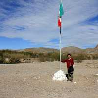 Standing on Mexican Soil at Boquilla Del Carmen, Coahuila, Mexico