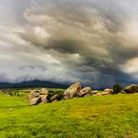 Heavy Storm clouds over the grassland in Jalisco
