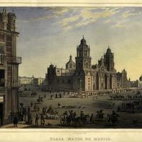 Plaza Mayor do Mexico city in 1836