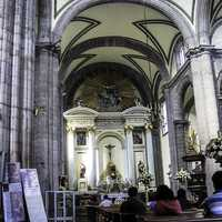 Tabernacle's main altar at the Mexico City Cathedral