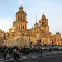 The cathedral as seen from Madero street in Mexico City